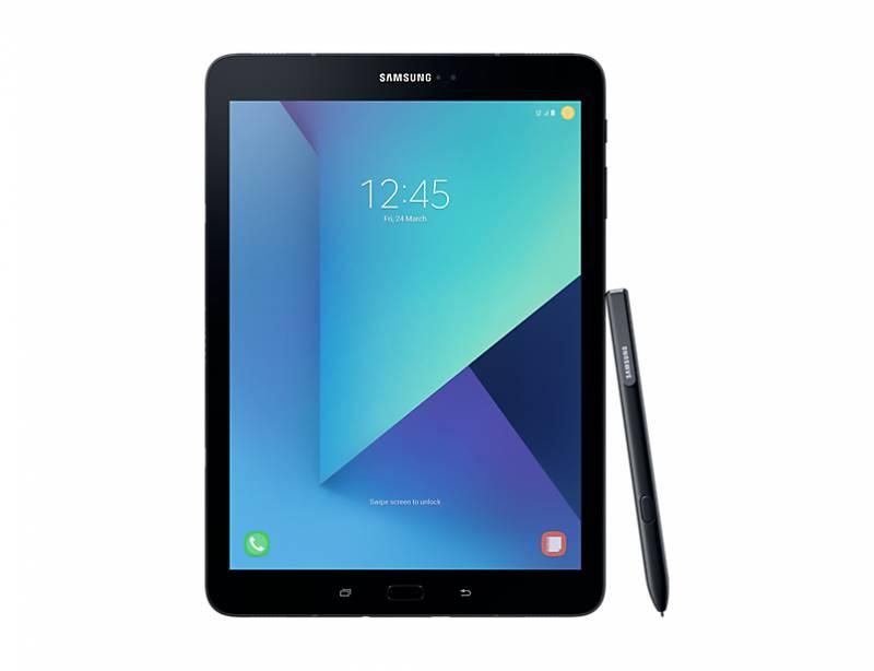 "Планшет Samsung Galaxy Tab S3 SM-T825N Snapdragon 820 (2.15) 4C/RAM4Gb/ROM32Gb 9.7"" Super AMOLED 2048x1536/3G/4G/Android 7.0/черный/13Mpix/5Mpix/BT/GPS/WiFi/Touch/microSD 256Gb/minUSB/6000mAh"