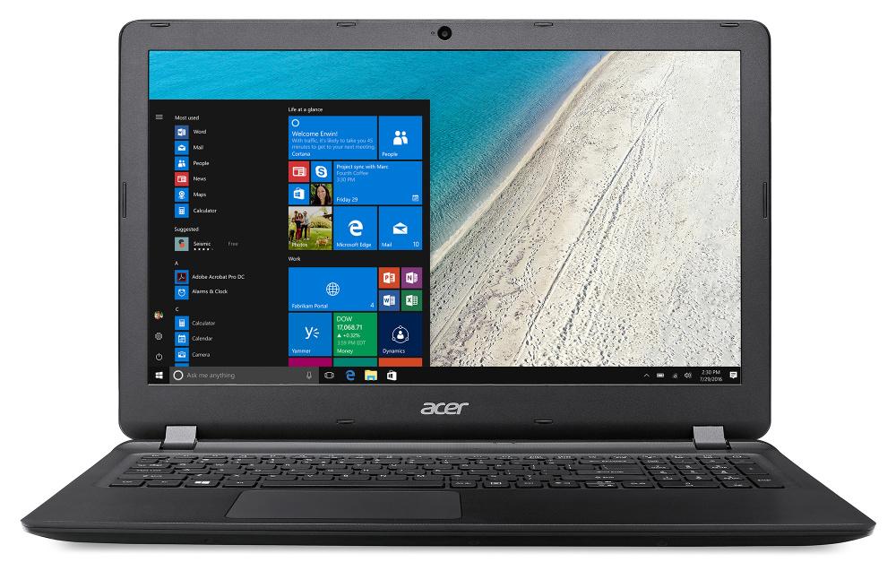 "Ноутбук Acer Extensa EX2540-56MP Core i5 7200U/4Gb/500Gb/Intel HD Graphics 620/15.6""/HD (1366x768)/Windows 10 Home/black/WiFi/BT/Cam/3220mAh"