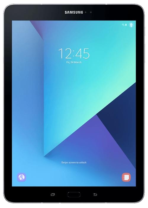 "Планшет Samsung Galaxy Tab S3 SM-T825N Snapdragon 820 (2.15) 4C/RAM4Gb/ROM32Gb 9.7"" Super AMOLED 2048x1536/3G/4G/Android 7.0/серебристый/13Mpix/5Mpix/BT/GPS/WiFi/Touch/microSD 256Gb/minUSB/6000mAh"