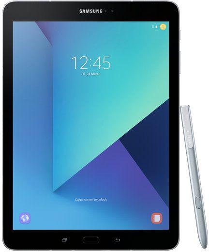 "Планшет Samsung Galaxy Tab S3 SM-T820N Snapdragon 820 (2.15) 4C/RAM4Gb/ROM32Gb 9.7"" Super AMOLED 2048x1536/Android 7.0/серебристый/13Mpix/5Mpix/BT/WiFi/Touch/microSD 256Gb/minUSB/6000mAh"