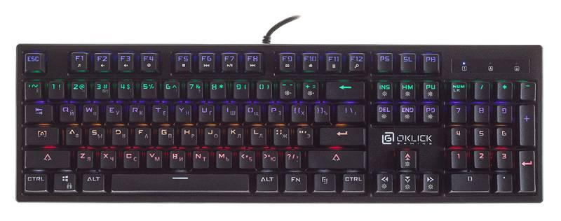 Клавиатура Oklick 940G VORTEX механическая черный USB for gamer LED
