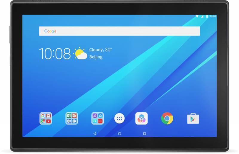 "Планшет Lenovo Tab 4 TB-X304L Snapdragon 425 (1.4) 4C/RAM2Gb/ROM16Gb 10.1"" IPS 1280x800/3G/4G/Android 7.0/черный/5Mpix/2Mpix/BT/GPS/WiFi/Touch/microSD 128Gb/minUSB/7000mAh/12hr"
