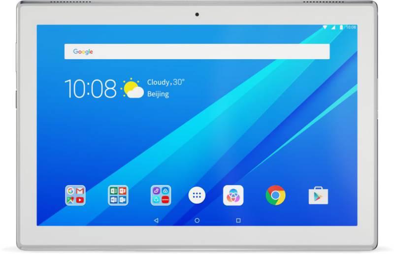 "Планшет Lenovo Tab 4 TB-X304L Snapdragon 425 (1.4) 4C/RAM2Gb/ROM16Gb 10.1"" IPS 1280x800/3G/4G/Android 7.0/белый/5Mpix/2Mpix/BT/GPS/WiFi/Touch/microSD 128Gb/minUSB/7000mAh/12hr"