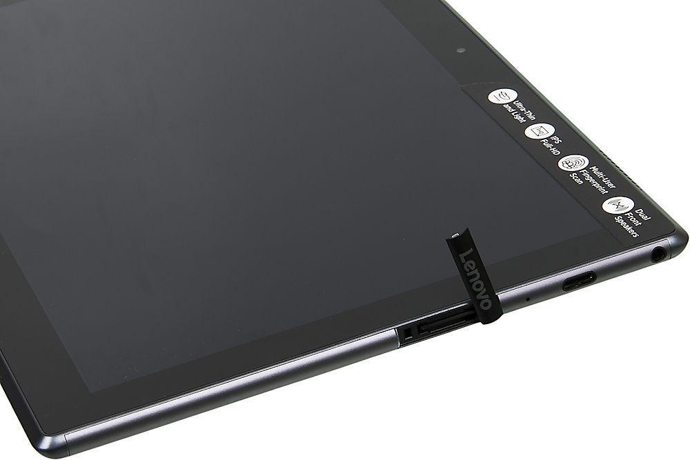 """Планшет Lenovo Tab 4 Plus TB-X704L Snapdragon 625 (2.0) 8C/RAM3Gb/ROM16Gb 10.1"""" IPS 1920x1200/3G/4G/Android 7.0/черный/8Mpix/5Mpix/BT/GPS/WiFi/Touch/microSD 128Gb/7000mAh/14hr/до 336hrs"""