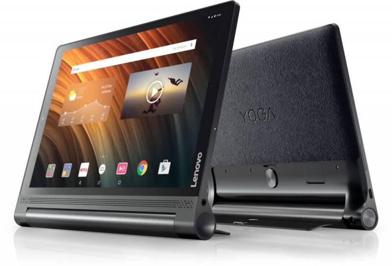 "Планшет Lenovo Yoga Tablet YT-X703L Snapdragon 625 (1.8) 8C/RAM3Gb/ROM32Gb 10.1"" IPS 2560x1600/3G/4G/Android 6.0/черный/13Mpix/5Mpix/BT/GPS/WiFi/Touch/microSD 128Gb/9300mAh/18hr/до 1344hrs"