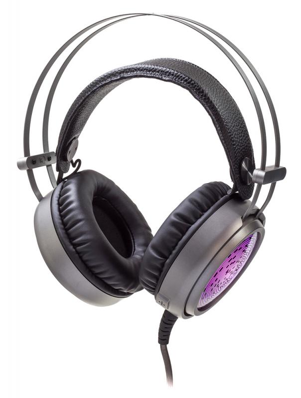 Наушники с микрофоном Oklick HS-L600G STEEL SOUND черный 2.2м мониторы оголовье (HS-L600G)