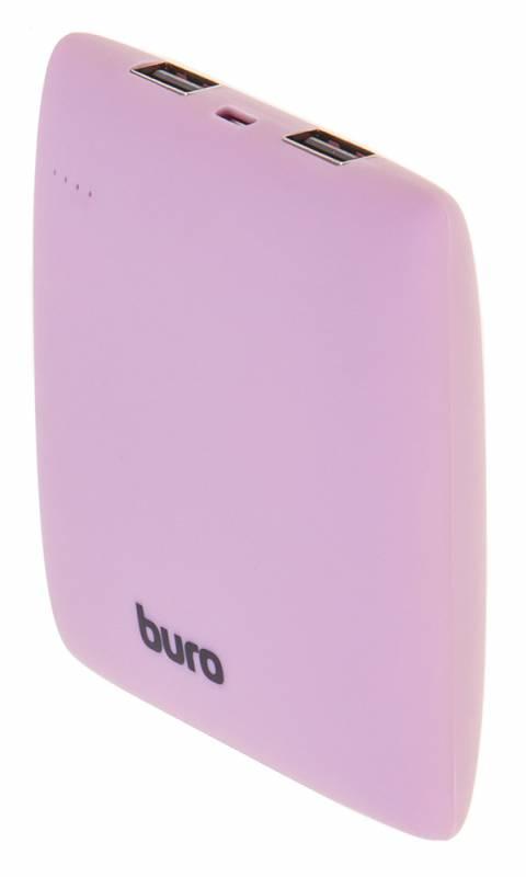 Мобильный аккумулятор Buro RA-7500PL-PK Pillow Li-Ion 7500mAh 2.1A розовый 2xUSB