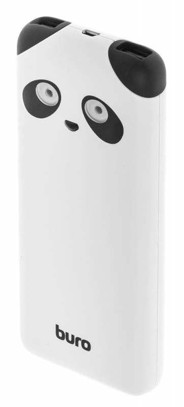 Мобильный аккумулятор Buro RA-10000PD-WT Panda Li-Pol 10000mAh 2.1A+1A белый 2xUSB