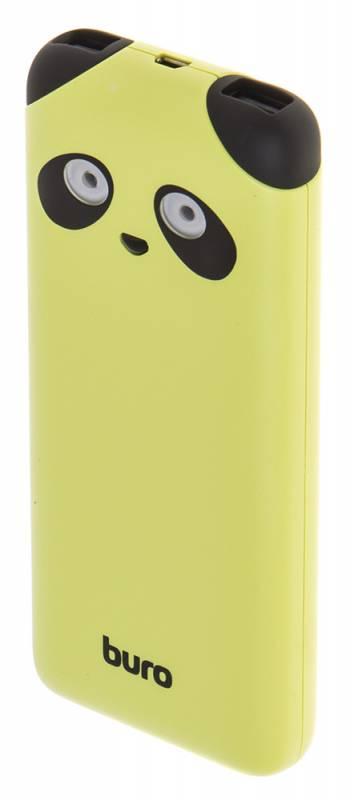Мобильный аккумулятор Buro RA-10000PD-GN Panda Li-Pol 10000mAh 2.1A лайм 2xUSB
