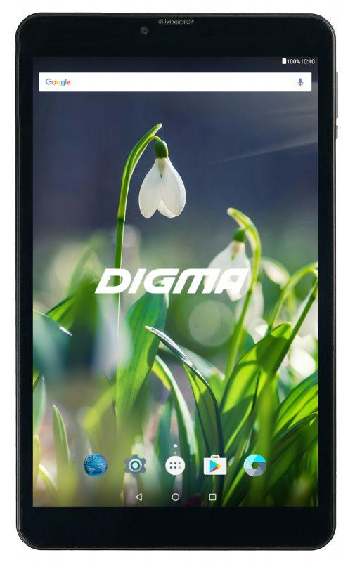 "Планшет Digma Plane 8522 3G MT8321 (1.3) 4C/RAM1Gb/ROM8Gb 8"" IPS 1280x800/3G/Android 7.0/графит/черный/0.3Mpix/0.3Mpix/BT/GPS/WiFi/Touch/microSD 128Gb/minUSB/3500mAh"