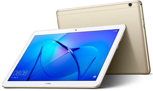 "Планшет Huawei MediaPad T3 10 Snapdragon MSM8917 4C/RAM2Gb/ROM16Gb 9.6"" IPS 1280x800/3G/4G/Android 7.0/золотистый/5Mpix/2Mpix/BT/GPS/WiFi/Touch/microSD 128Gb/minUSB/4800mAh"