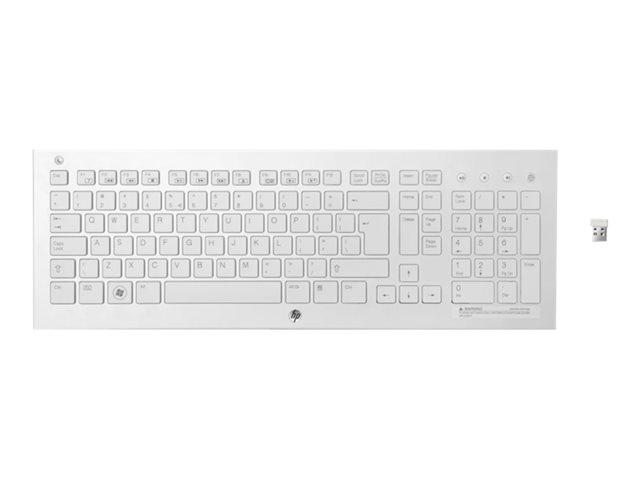 Клавиатура HP K5510 белый USB беспроводная Multimedia