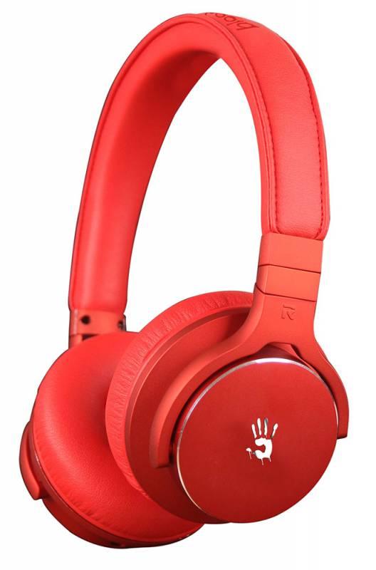 Наушники с микрофоном A4 Bloody M510 красный 1.3м мониторы оголовье