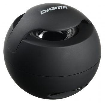 Колонка порт. Digma S-11 черный 3W 1.0 BT/USB 500mAh (SP113B)