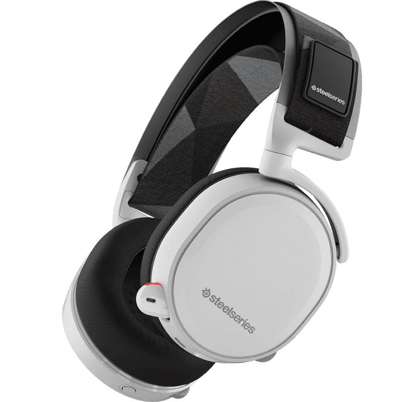 Наушники с микрофоном Steelseries Arctis 7 белый 1.2м мониторы Radio оголовье (61464)