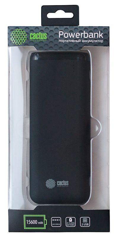 Мобильный аккумулятор Cactus CS-PBHTST-15600 Li-Ion 15600mAh 2.4A+2.4A черный 2xUSB