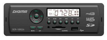 Автомагнитола Digma DCR-100G24 1DIN 4x45Вт