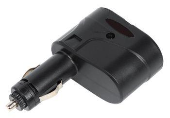Разветвитель роз.прикуривателя Digma DCN-12P2 2xSoc черный