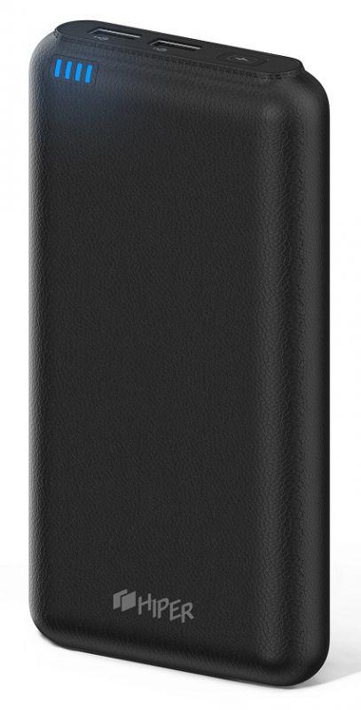 Мобильный аккумулятор Hiper SP20000 Li-Ion 20000mAh 2.1A+1A черный 2xUSB