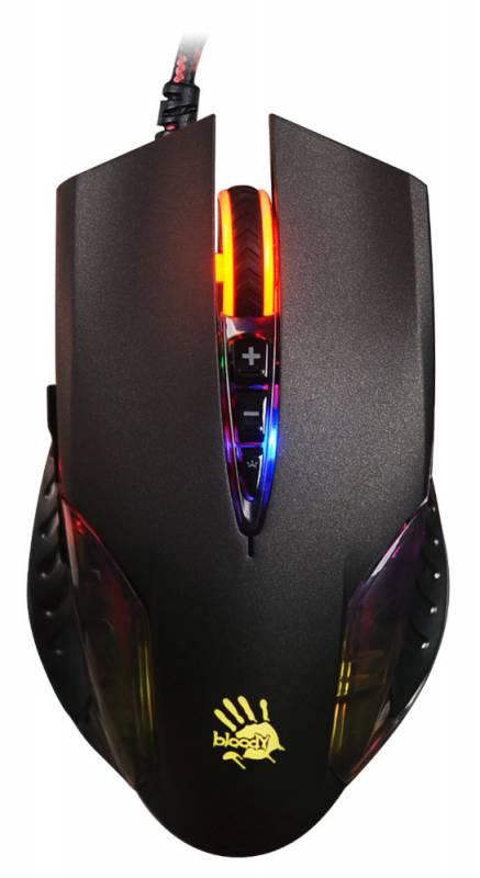 Мышь A4 Bloody Q50 черный оптическая (3200dpi) USB игровая (8but)