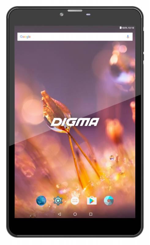 "Планшет Digma CITI 8527 4G MTK8735W (1.3) 4C/RAM2Gb/ROM16Gb 8"" IPS 1920x1200/3G/4G/Android 7.0/черный/8Mpix/5Mpix/BT/GPS/WiFi/Touch/microSD 64Gb/minUSB/4000mAh"