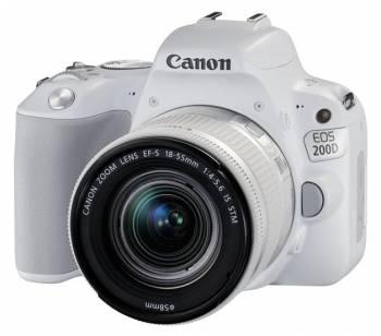 Зеркальный Фотоаппарат Canon EOS 200D белый 24.2Mpix EF-S 18-55mm f/3.5-5.6 IS STM 3