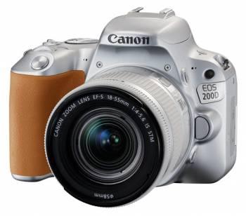 Зеркальный Фотоаппарат Canon EOS 200D серебристый 24.2Mpix EF-S 18-55mm f/3.5-5.6 IS STM 3