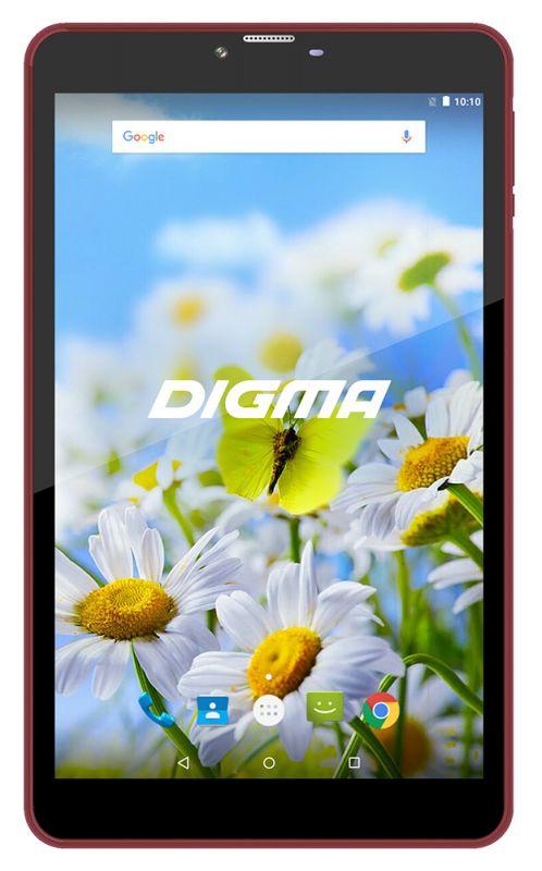 "Планшет Digma Plane 7539E 4G MT8735M (1.0) 4C/RAM1Gb/ROM16Gb 7"" IPS 1024x600/3G/4G/Android 7.0/черный/фиолетовый/2Mpix/0.3Mpix/BT/GPS/WiFi/Touch/microSD 64Gb/minUSB/2400mAh"