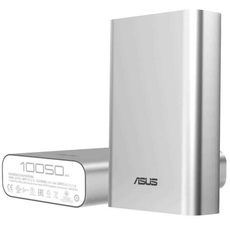 Мобильный аккумулятор Asus ZenPower ABTU005 Li-Ion 10050mAh 2.4A серебристый 1xUSB