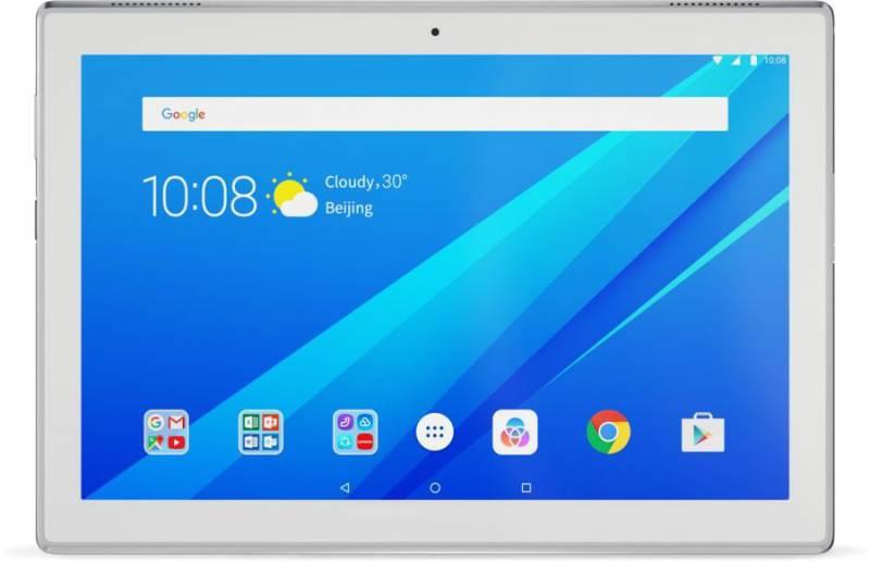 "Планшет Lenovo Tab 4 TB-X304L Snapdragon 425 (1.4) 4C/RAM2Gb/ROM32Gb 10.1"" IPS 1280x800/3G/4G/Android 7.1/белый/5Mpix/2Mpix/BT/GPS/WiFi/Touch/microSD 128Gb/minUSB/7000mAh/12hr"