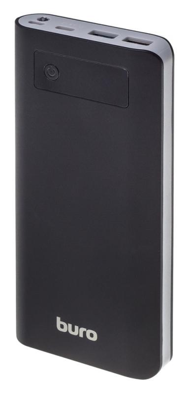 Мобильный аккумулятор Buro RB-20000-LCD-QC3.0-I&O Li-Ion 20000mAh 3A+1.5A черный 3xUSB