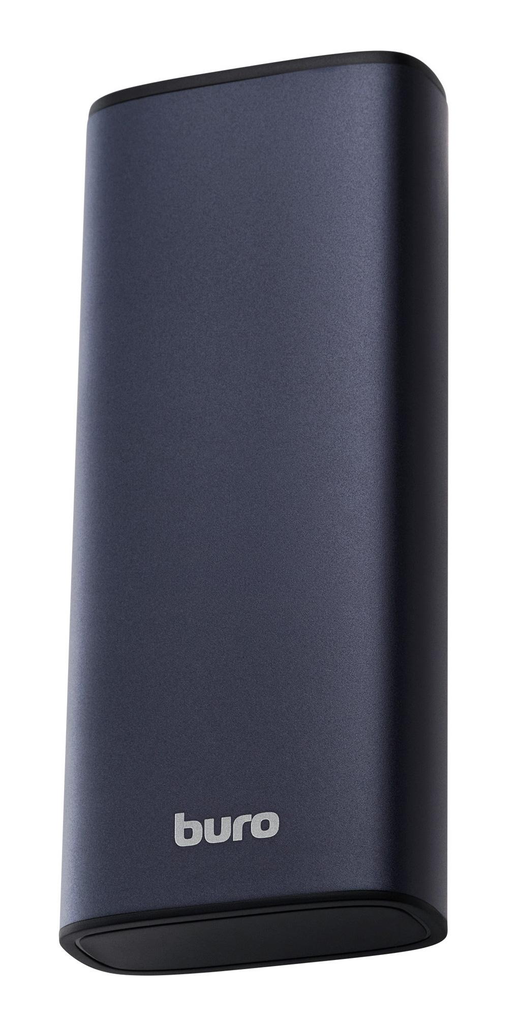 Мобильный аккумулятор Buro RB-10000-QC3.0-I&O Li-Pol 10000mAh 3A+1.5A серебристый 2xUSB