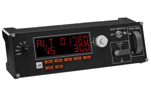 Геймпад Logitech G Saitek Pro Flight Multi Panel черный USB виброотдача