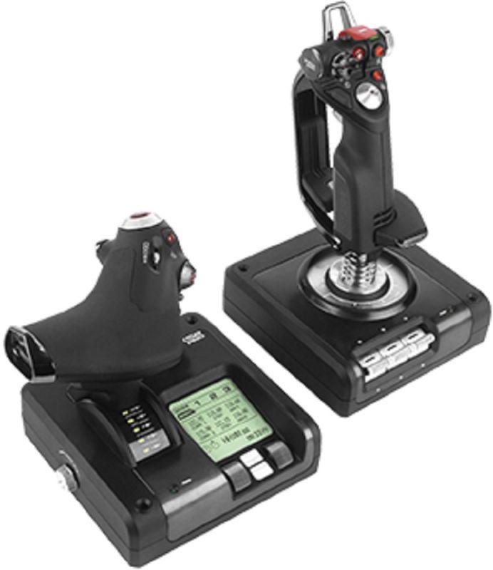 Геймпад Logitech G Saitek X52 Pro Flight Control System черный USB виброотдача