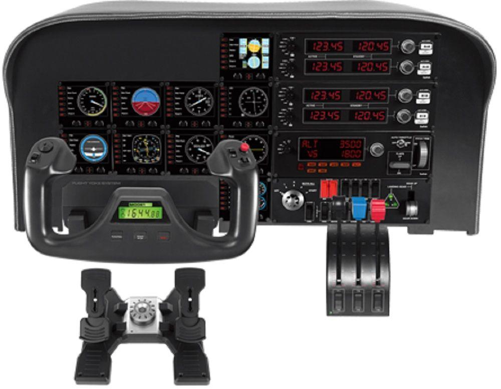 Геймпад Logitech G Saitek Pro Flight Instrument Panel черный USB виброотдача