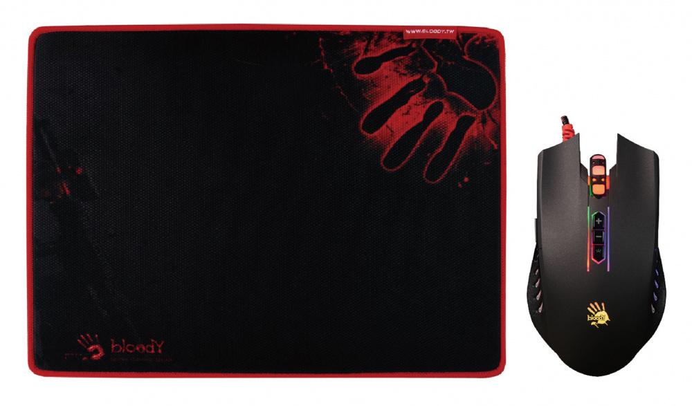 Мышь A4 Bloody Q8181S черный оптическая (3200dpi) USB2.0 игровая (8but)