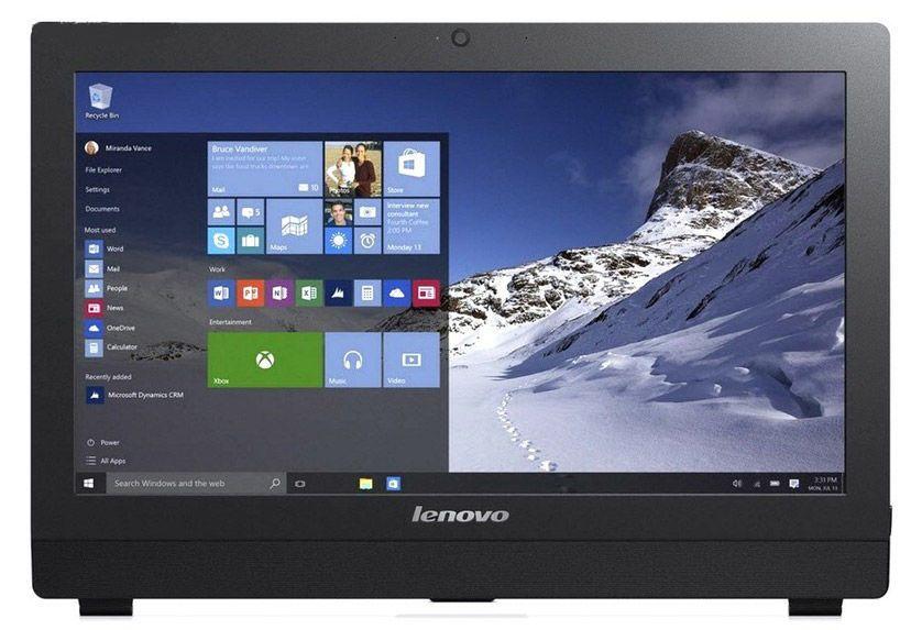 """Моноблок Lenovo S200z 19.5"""" HD+ P J3710 (1.6)/4Gb/500Gb 7.2k/HDG405/CR/noOS/GbitEth/WiFi/BT/65W/клавиатура/мышь/Cam/черный 1600x900"""