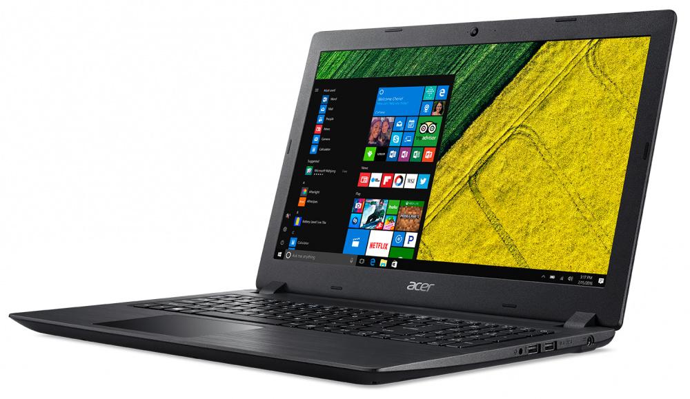 "Ноутбук Acer Aspire A315-51-36UW Core i3 6006U/8Gb/SSD256Gb/Intel HD Graphics 520/15.6""/FHD (1920x1080)/Windows 10 Home/black/WiFi/BT/Cam/4810mAh"