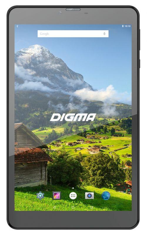 "Планшет Digma Plane 8555M 4G MTK8735B (1.1) 4C/RAM1Gb/ROM16Gb 8"" IPS 1280x800/3G/4G/Android 7.0/черный/2Mpix/0.3Mpix/BT/GPS/WiFi/Touch/microSD 32Gb/minUSB/4000mAh"