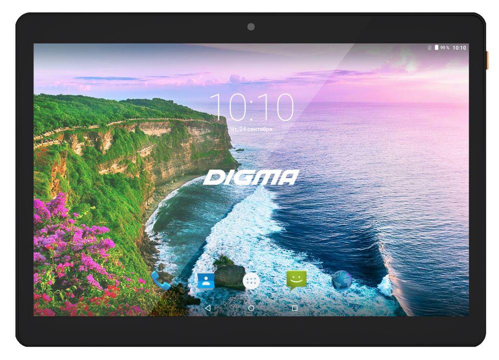 "Планшет Digma Plane 9654M 3G SC7731G (1.3) 4C/RAM1Gb/ROM16Gb 9.6"" IPS 1280x800/3G/Android 7.0/черный/2Mpix/0.3Mpix/BT/GPS/WiFi/Touch/microSDHC 32Gb/minUSB/4500mAh"