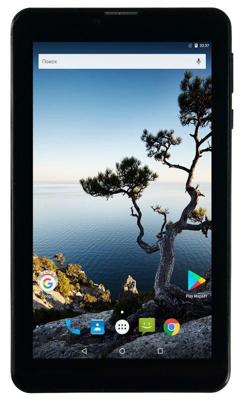 "Планшет Digma Plane 7556 3G MTK8321 (1.3) 4C/RAM1Gb/ROM16Gb 7"" IPS 1024x600/3G/Android 7.0/черный/2Mpix/0.3Mpix/BT/GPS/WiFi/Touch/microSD 64Gb/minUSB/4000mAh"