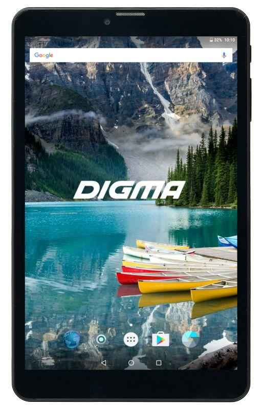 "Планшет Digma Plane 8558 4G SC9832 (1.5) 4C/RAM1Gb/ROM16Gb 8"" IPS 1280x800/3G/4G/Android 7.0/графит/черный/2Mpix/0.3Mpix/BT/GPS/WiFi/Touch/microSD 128Gb/minUSB/3500mAh"
