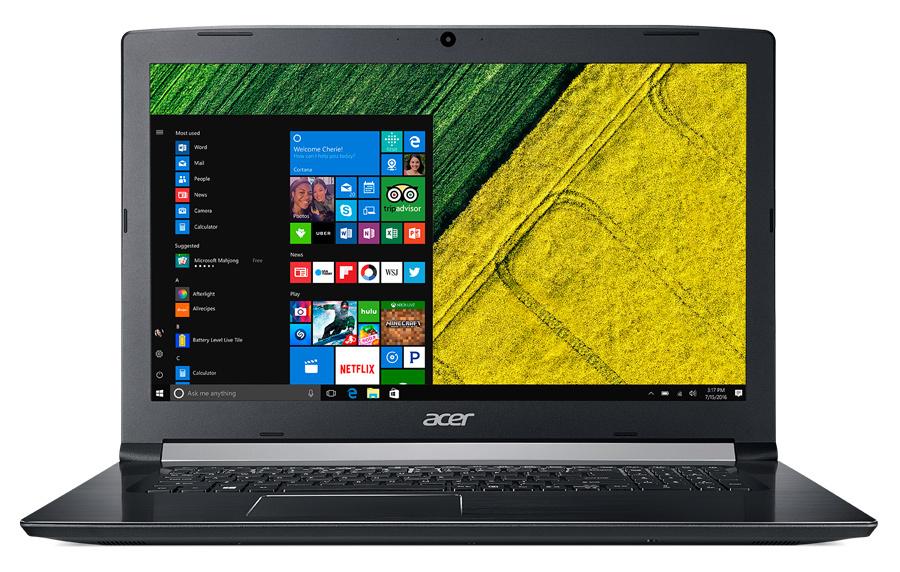 "Ноутбук Acer Aspire A517-51G-810T Core i7 8550U/12Gb/1Tb/SSD128Gb/nVidia GeForce Mx150 2Gb/17.3""/IPS/FHD (1920x1080)/Windows 10 Home/black/WiFi/BT/Cam/3220mAh"
