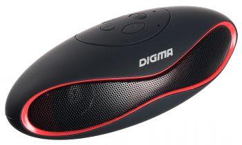 Колонка порт. Digma S-10 черный 3W 1.0 BT (SP103B)