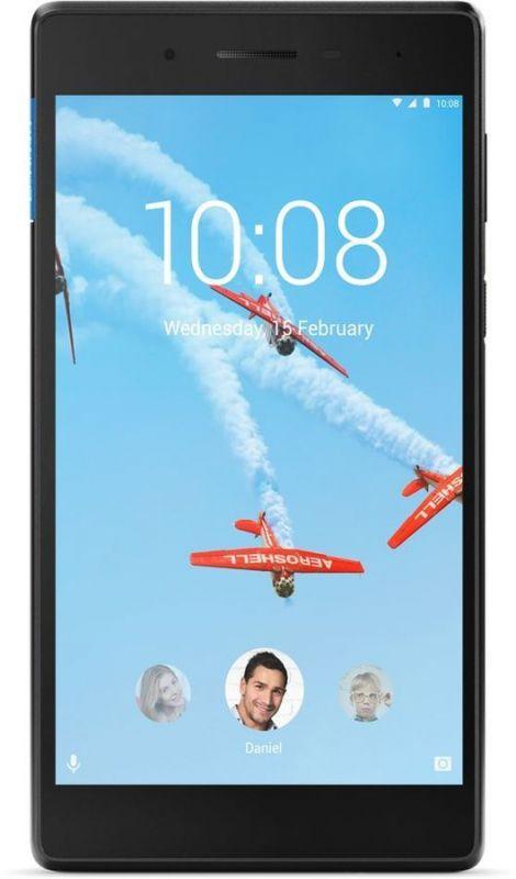 "Планшет Lenovo Tab 7 TB-7304X MT8735D (1.1) 4C/RAM1Gb/ROM16Gb 7"" IPS 1024x600/3G/4G/Android 7.0/черный/2Mpix/2Mpix/BT/GPS/WiFi/Touch/microSD 128Gb/minUSB/3450mAh/10hr"