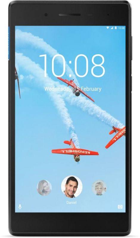"Планшет Lenovo Tab 7 TB-7504X MT8735B (1.3) 4C/RAM2Gb/ROM16Gb 7"" IPS 1280x720/3G/4G/Android 7.0/черный/5Mpix/2Mpix/BT/GPS/WiFi/Touch/microSD 128Gb/minUSB/3500mAh/10hr"