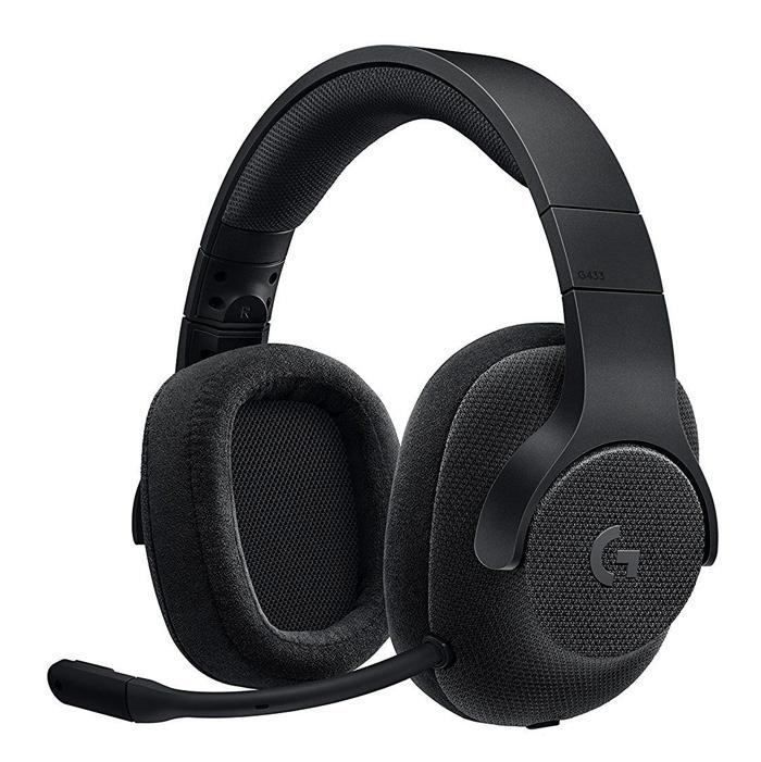 Наушники с микрофоном Logitech G433 TRIPLE черный 2м мониторы оголовье (981-000668)