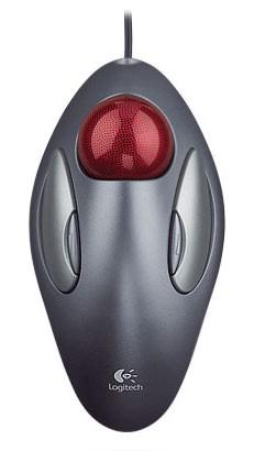 Трекбол Logitech Marble серый/серебристый/красный USB (4but)