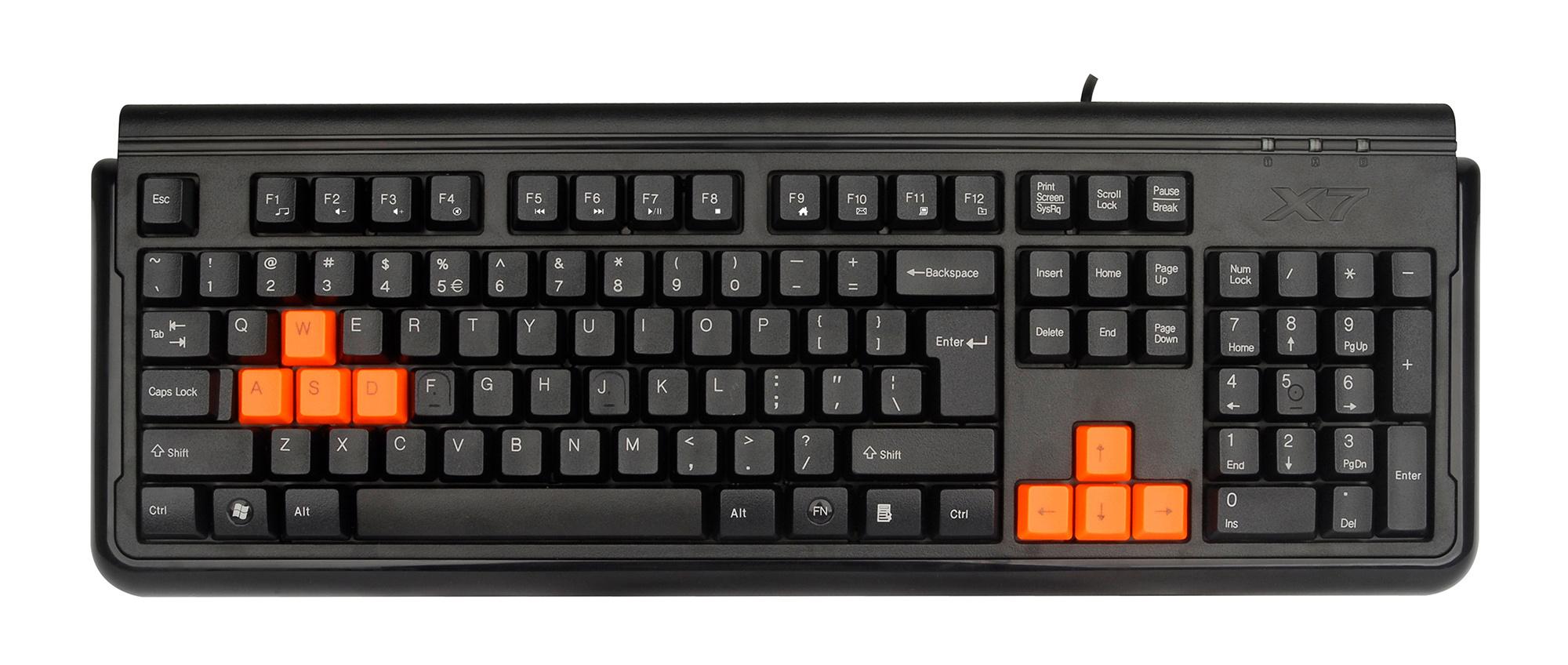 Клавиатура A4 X7-G300 черный USB for gamer