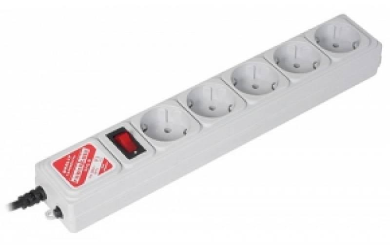 Сетевой фильтр Powercube SPG-B-15 5м (5 розеток) серый (коробка)